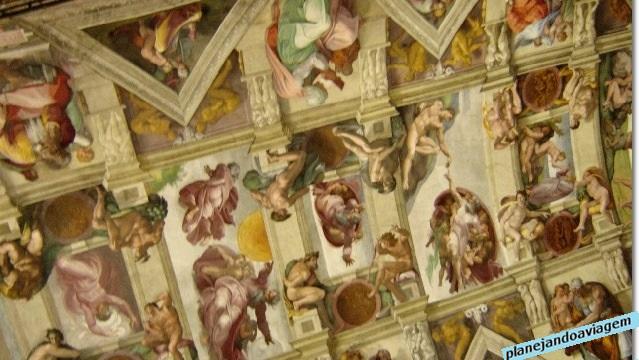 Afrescos na Capela Sistina - Criação de Adão ao centro