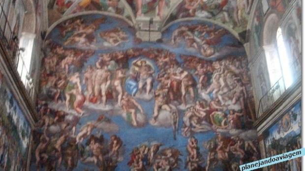 Afrescos na Capela Sistina - Juízo Universal