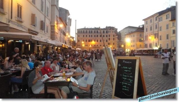 Roma - Campo dei Fiori ao entardecer
