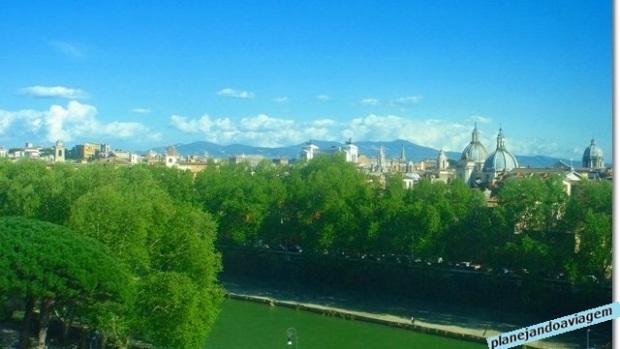 Vista de Roma a partir do Castelo Santo Angelo