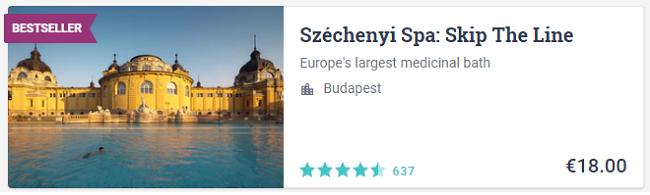 Ingresso Szechenyi Spa