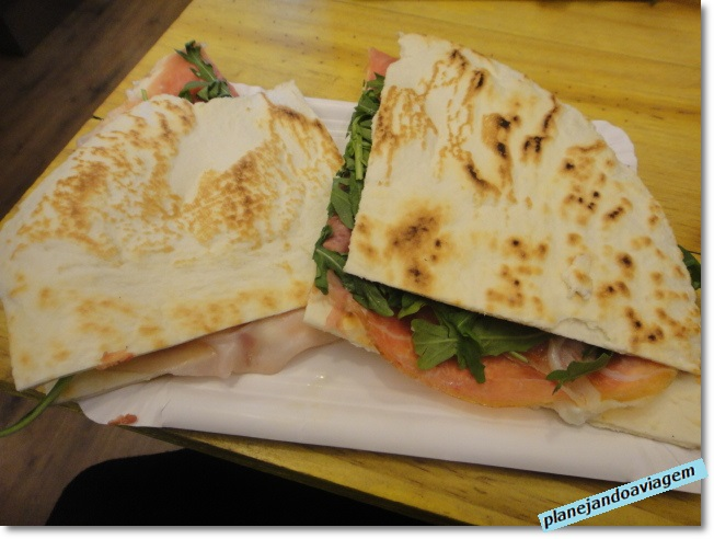 Bolonha - comida típica - Piadina Romagnola