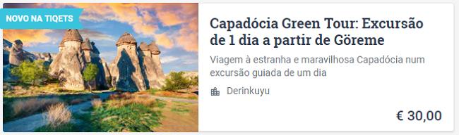Green Tour na Capadocia Goreme