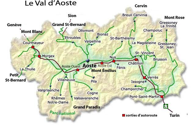 Mapa Valle d'Aosta (wikipedia)