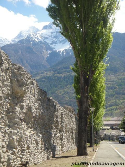 Parte do muro de época romana