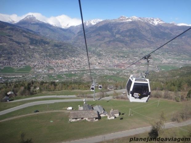 Aosta vista da Cabinovia