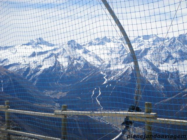 Vista dos Alpes do Topo de Pila