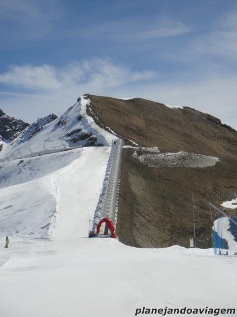 No topo da Montanha, acesso a pista preta