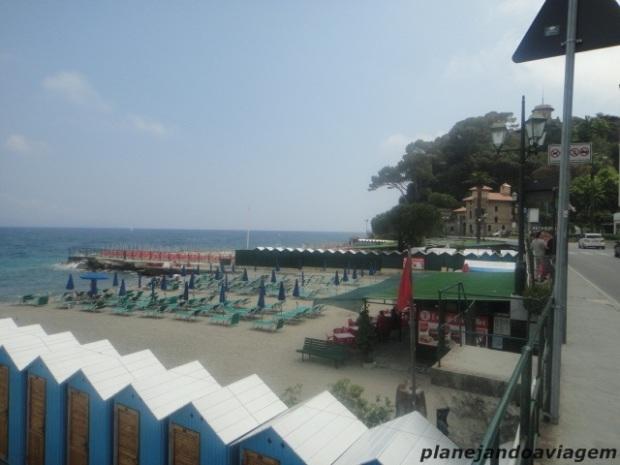 Praia em Santa Margherita Ligure