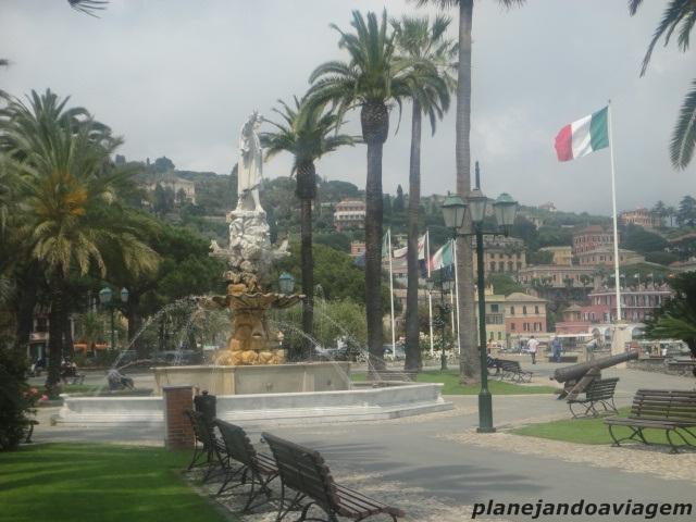 Santa Margherita Ligure - Praça à beira-mar
