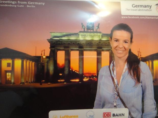 Fotinho no estande da Alemanha.... ai que saudades de Berlim!