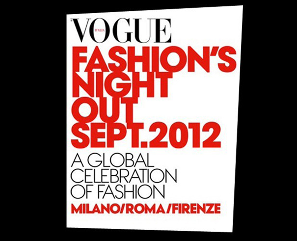 Folder da Vogue para o La Notte Bianca 2012