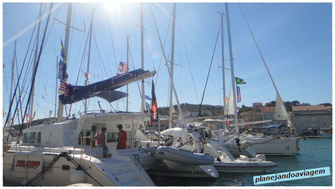 Barcos com Bandeira do Brasil em Trogir