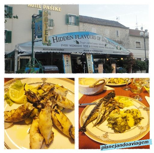 Restaurante do Hotel Pasike em Trogir
