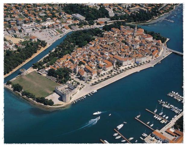Foto aérea de Trogir (fonte: croatia.hr)