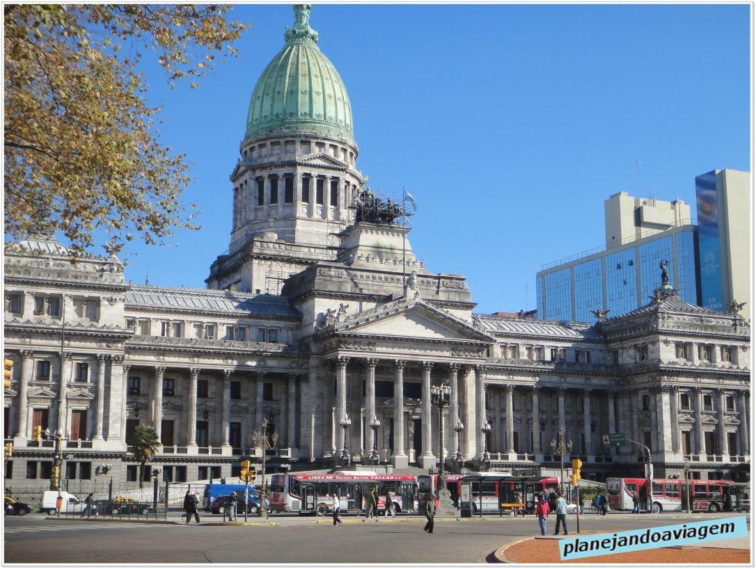 Palácio del Congreso na Plaza del Congreso