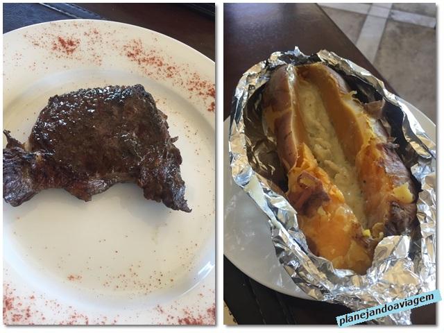 Rivera - Pratos no La Perdiz (boniato e parrrilla)