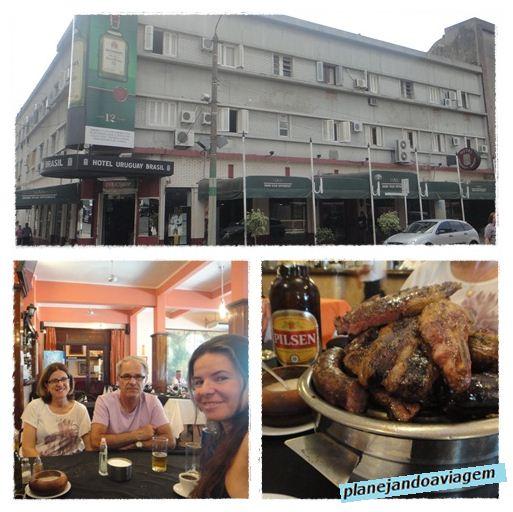 Restaurante Hotel Uruguay Brasil - Parrillada com meus Pais