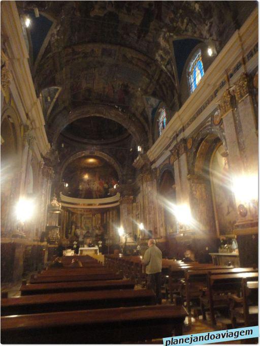 Interior Igreja San Miguel