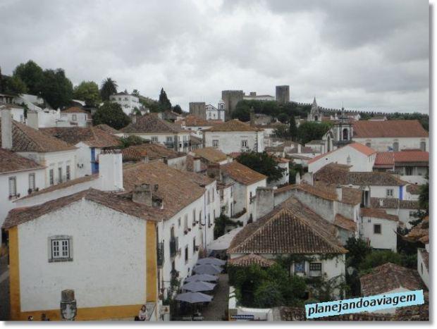 Óbidos - Cidade vista de Cima do Muro