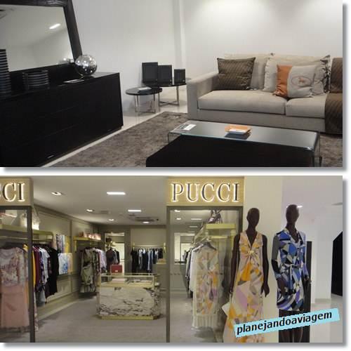 Loja Pucci e móveis Fendi na SAX - Ciudad del Este