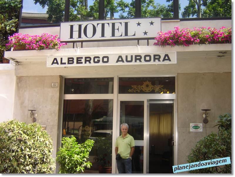 Fachada Hotel Aurora em Mestre (Veneza)