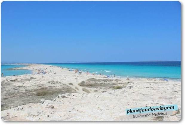 Praia Illetes na Ilha de Formentera