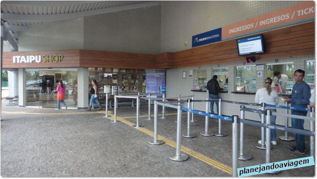 Usina de Itaipu - Bilheteria