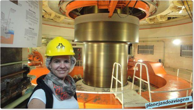Usina de Itaipu - Eixo Turbinas