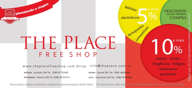 Cupon Desconto Parceria Blog e The Place Free Shop