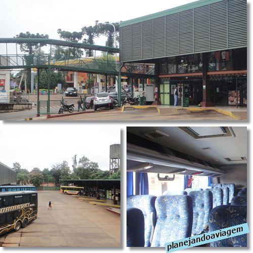 Rodoviária Puerto Iguazu e Interior do ônibus que leva ao lado Brasileiro das Cataratas