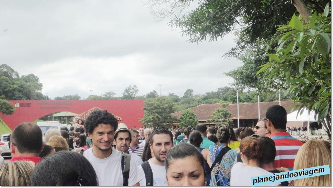 Chegada no Parque Nacional do Iguaçu