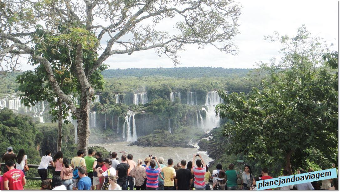 Início do caminho no Parque Nacional do Iguaçu