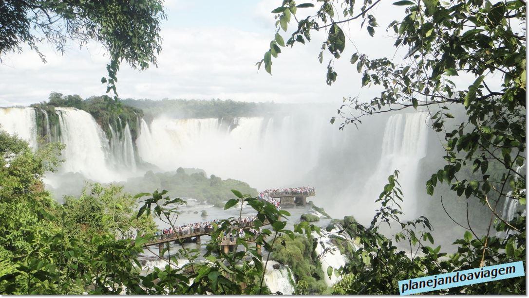 Vista da Garganta do Diabo no Parque Nacional do Iguaçu