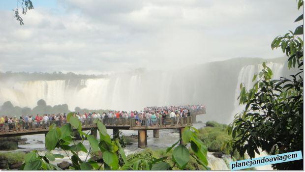 Passarela  na Garganta do Diabo no Parque Nacional do Iguaçu