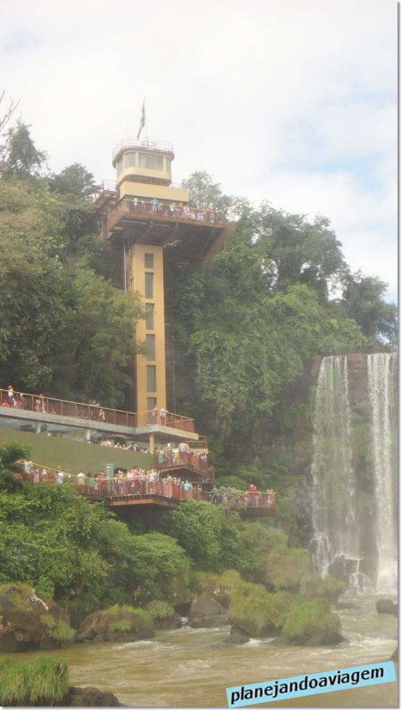 Mirante e saída no Parque Nacional do Iguaçu