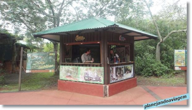 Chegada no Parque Nacional do Iguazu