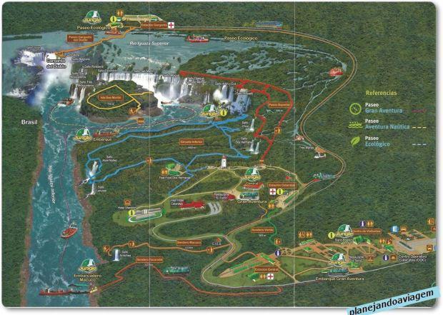 Folder Parque Nacional Iguazu - circuito, trilhas e passeios, estações, etc.