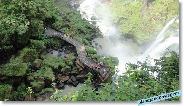 Ciruito Inferior visto do Paseo Superior - Parque Nacional Iguazu