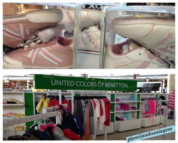 Produtos Geox e Benethon Sineriz Shopping
