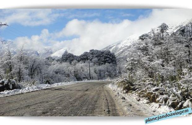 Início da subida de Las Trancas à Nevados de Chillan
