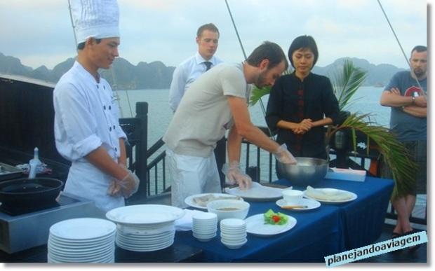 Aula de Culinária no Cruzeiro Paradise Cruise em Halong Bay