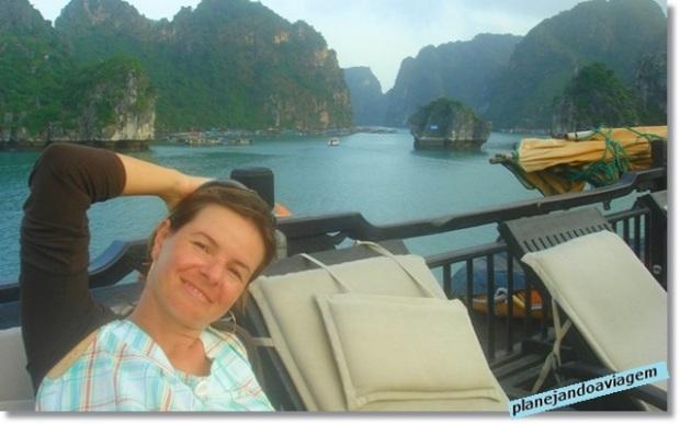 Fim do Cruzeiro Paradise Cruise em Halong Bay
