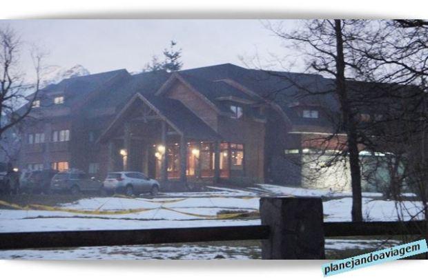 Fachada Hotel Pirimauida em Nevados de Chillan - Chile