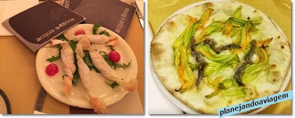 Acqua e Farina - Entrada e Pizza