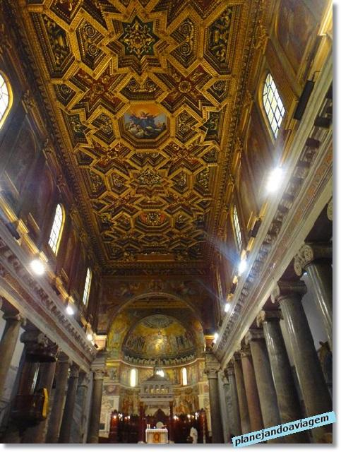Basílica Santa Maria in Trastevre - Interior