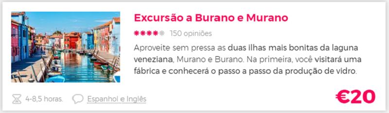 Compra excursão Murano e Burano com a Civitatis
