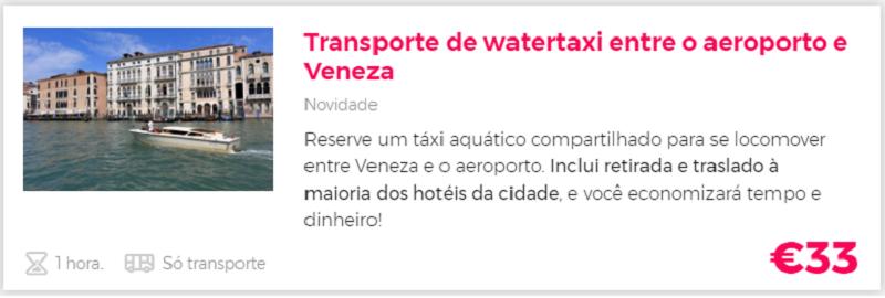 Compra transfer aquatico aeroporto Veneza com a Civitatis