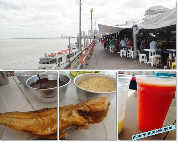 Belem - Mercado Ver o peso - Restaurantes e Peixe com acai
