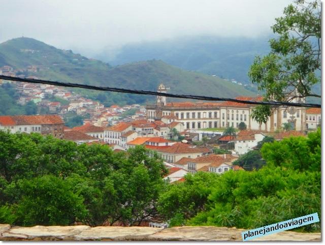 Vista de Ouro Preto da Igreja São Fancisco de Paula